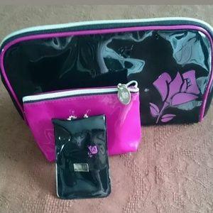 3pc Lancome Cosmetic Bag Set